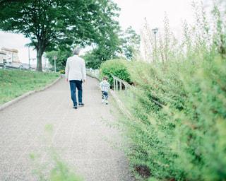 鴨川沿いで遊ぶ家族の写真・画像素材[1002982]