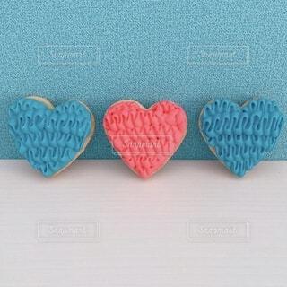 ピンクと青のハートの写真・画像素材[4164261]