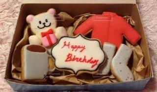 父への誕生日クッキーの写真・画像素材[4194780]
