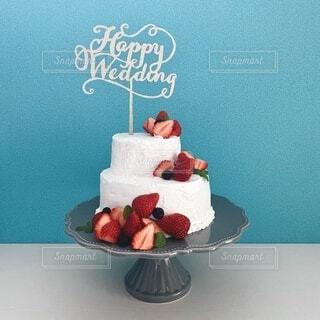 手作りウェディングケーキの写真・画像素材[4194786]