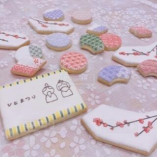 ひなまつりのアイシングクッキーの写真・画像素材[4209292]