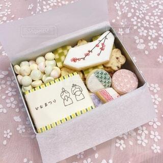 ひなまつりのクッキー缶の写真・画像素材[4209301]