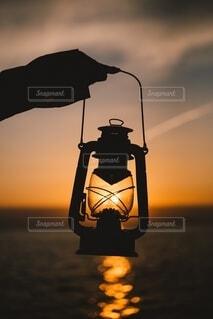 灯火の写真・画像素材[4164321]