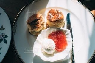 喫茶店のスコーンの写真・画像素材[4164347]
