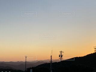 七色に染まる空の写真・画像素材[4191536]