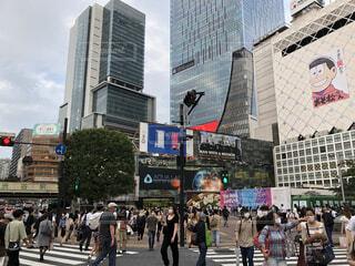 渋谷スクランブル交差点の写真・画像素材[4168360]