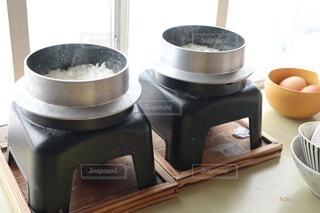 釜炊きご飯でリッチな卵かけご飯の写真・画像素材[4170967]