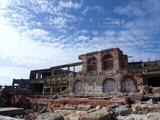 軍艦島の写真・画像素材[4170871]