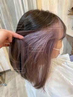 紫髪の女の写真・画像素材[4174428]