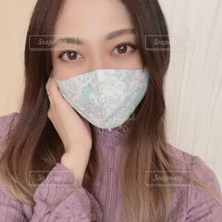 マスク姿の写真・画像素材[4309200]
