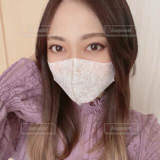 マスク姿の写真・画像素材[4309201]