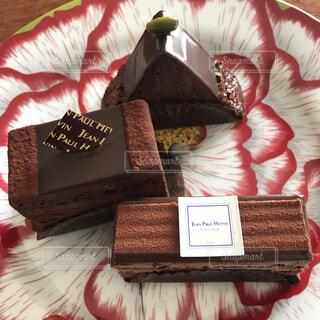 ジャンポールエヴァンのチョコレートケーキの写真・画像素材[4193972]