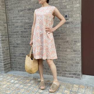サマードレスの夏コーデの写真・画像素材[4658366]