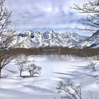 冬の山の写真・画像素材[4186367]