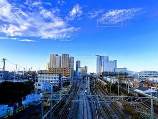武蔵小杉を陸橋からの写真・画像素材[4185229]