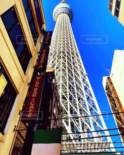 東京タワー真下からの写真・画像素材[4185829]