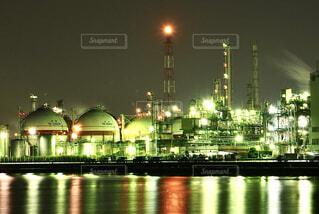 工場夜景の写真・画像素材[4235007]