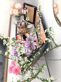 お花を飾っておひなさまの写真・画像素材[4206376]