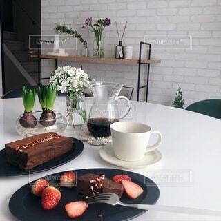 手作りスイーツでおうちカフェの写真・画像素材[4206406]