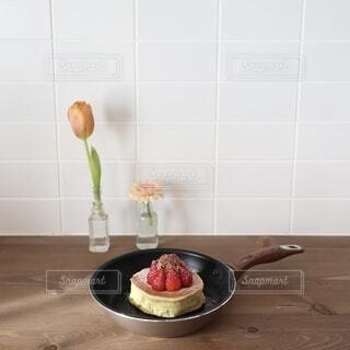 ホットケーキで作ったふわふわパンケーキの写真・画像素材[4199237]