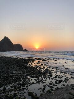 堂ヶ島に沈む夕日の写真・画像素材[4199243]