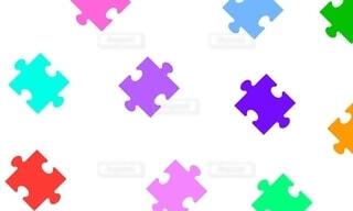 カラフルなパズルパターンの写真・画像素材[4211327]