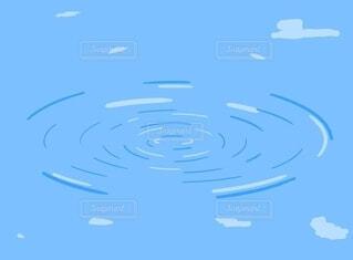 水辺の波紋の写真・画像素材[4211373]