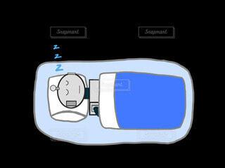 寝てるロボットの写真・画像素材[4221583]