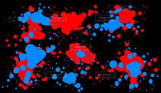 スパッタリング(red.blue)の写真・画像素材[4352616]