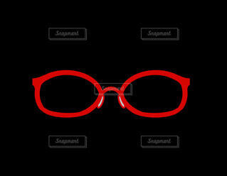 赤いメガネの写真・画像素材[4357039]