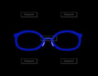 青いメガネの写真・画像素材[4357045]