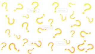 3dのような黄色のはてなパターンの写真・画像素材[4424548]