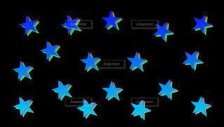 3dのような青い星パターンの写真・画像素材[4424560]