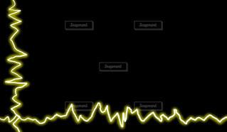 黄色の電気フレーム(黒背景)の写真・画像素材[4436954]