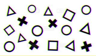 3Dのようなゲーム記号パターンの写真・画像素材[4458709]