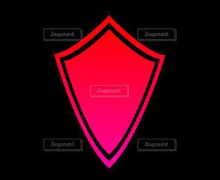 盾の赤いシルエットの写真・画像素材[4531037]