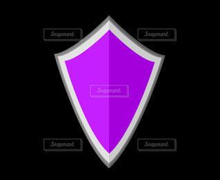 紫の盾の写真・画像素材[4531045]