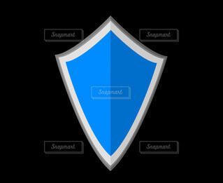 青い盾の写真・画像素材[4531047]