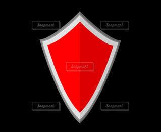 赤い盾の写真・画像素材[4531048]