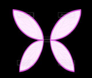 紫の妖精の羽の写真・画像素材[4547080]