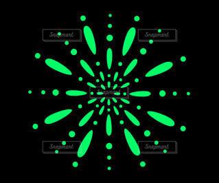 花火素材(緑)の写真・画像素材[4618046]