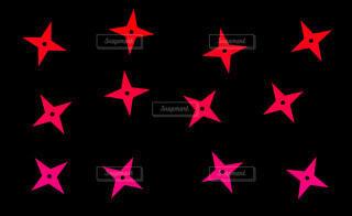 手裏剣パターン(赤)の写真・画像素材[4626019]