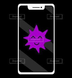 iPhoneのコンピュータウイルスの写真・画像素材[4662661]