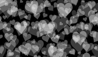 ハートパターン(黒背景)の写真・画像素材[4706217]