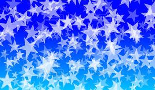 星パターン(青背景)の写真・画像素材[4706223]