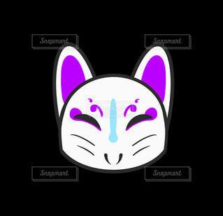 きつねの仮面(紫)の写真・画像素材[4754142]