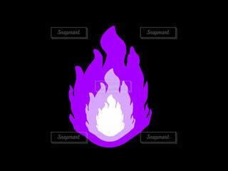 紫の炎の写真・画像素材[4771644]