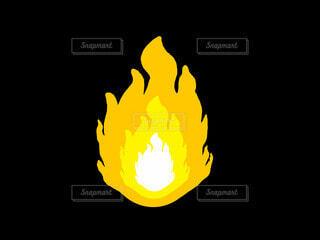 黄色の炎の写真・画像素材[4771647]