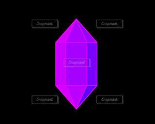 紫のクリスタルの写真・画像素材[4785978]