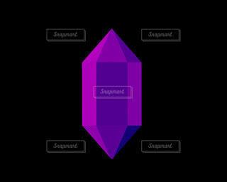 紫のクリスタルの写真・画像素材[4786036]